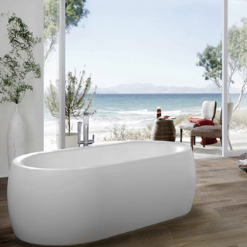 Badewanne in weiß