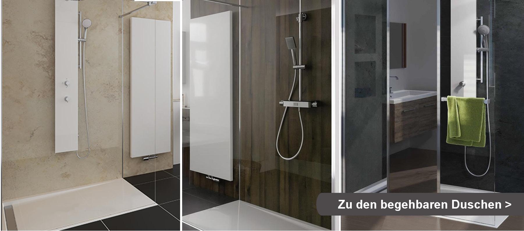 begehbare duschen - design und funktionalität vereint