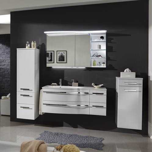marlin motion badm bel 120 cm mit led spiegelschrank verspiegeltes licht regal ebay. Black Bedroom Furniture Sets. Home Design Ideas