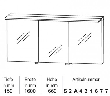 badspiegelschrank 150 180 cm impulsbad. Black Bedroom Furniture Sets. Home Design Ideas