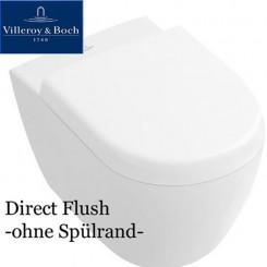 Villeroy & Boch Subway 2.0 WC ohne Spülrand, Directflush mit Ceramicplus + SoftClose-Sitz