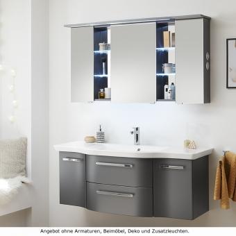 Pelipal Badmöbel als Set Contea mit Spiegelschrank - Waschtisch wählbar 128 cm