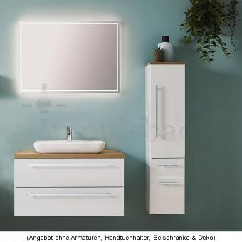 Kera Plan Badmöbel als Set 90 cm mit Aufsatzwaschtisch