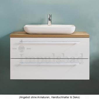 Kera Plan Waschtisch als Set 90 cm mit Aufsatzwaschtisch