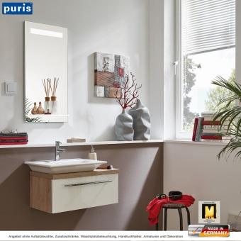 Puris for guests Badmöbel als Set 65 cm mit Aufsatzwaschtisch