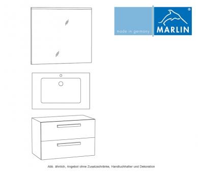 Marlin Badmöbel als Set Christall mit Badspiegel 80 cm