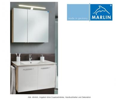 Marlin Badmöbel als Set Christall mit Spiegelschrank 80 cm