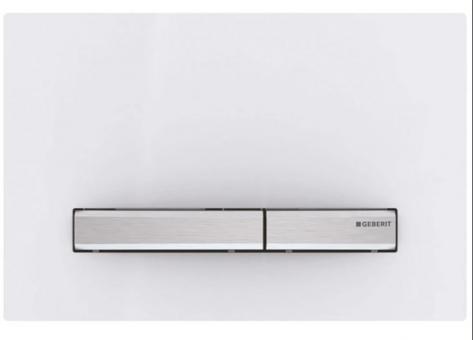 Sigma 50 Betätigungsplatte von Geberit zu UP320 weiß/chrom-gebuerstet