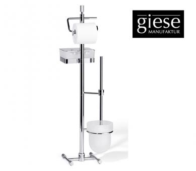 Giese WC-Ständer mit Bürsten-Garnitur und Glasbehälter für Feuchtpapier