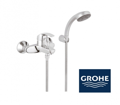 grohe eurosmart wannenarmatur in chrom impulsbad. Black Bedroom Furniture Sets. Home Design Ideas