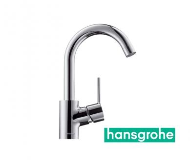 hansgrohe TALIS S Einhebel-Waschtischarmatur mit Zugstangen-Ablaufgarnitur und Schwenkauslauf 360 ° in chrom