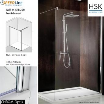 HSK Walk in Atelier - 100x200 cm - 1-Frontelement