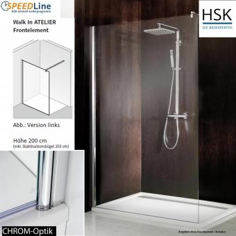 HSK Walk in Atelier - 140x200 cm - 1-Frontelement