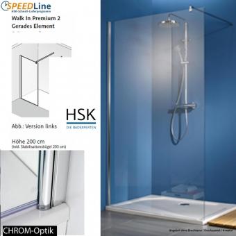 HSK Walk in Premium 2 - 120x200 cm - 1-Frontelement