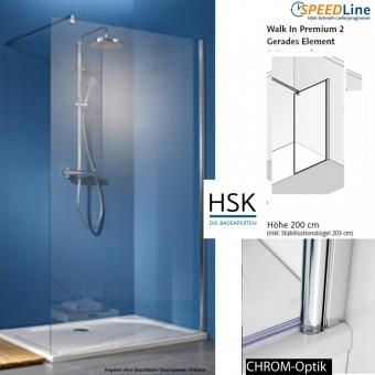 HSK Walk in Premium 2 - 140x200 cm - 1-Frontelement