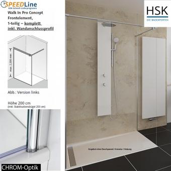 HSK Walk in Pro Concept - 140x200 cm - 1-Frontelement