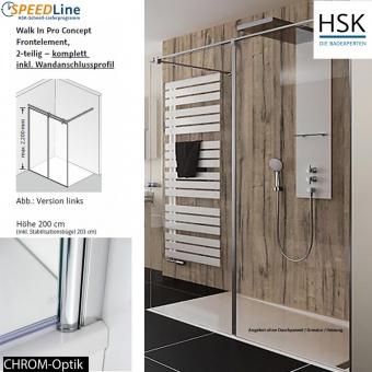 HSK Walk in Pro Concept - 120x200 cm - 2-teilig - Anschlag rechts