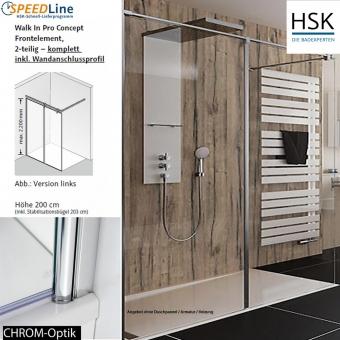 HSK Walk in Pro Concept - 120x200 cm - 2-teilig - Anschlag links