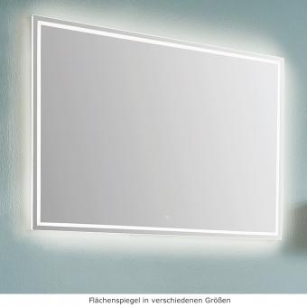 Kera Plan Badspiegel mit umlaufender Beleuchtung in verschiedenen Größen 60 - 140 cm