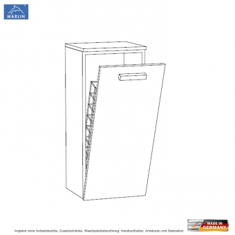 marlin 3020 life highboard 40 cm mit w schekippe impulsbad. Black Bedroom Furniture Sets. Home Design Ideas