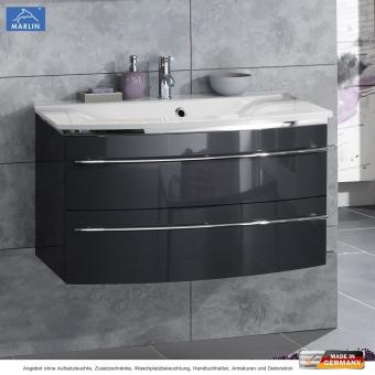 Marlin 3040 City Plus Waschtischset 90 cm mit Waschtisch und Unterschrank mit 2 Auszügen