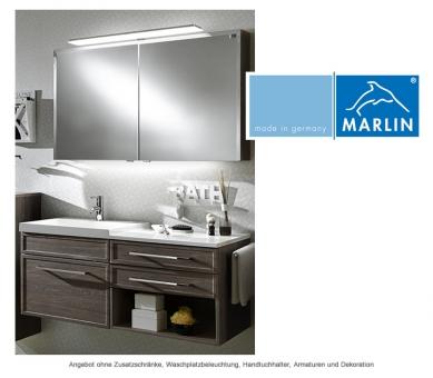 marlin badm bel als set loop mit spiegelschrank und waschtischunterschrank mit regal 120 cm. Black Bedroom Furniture Sets. Home Design Ideas