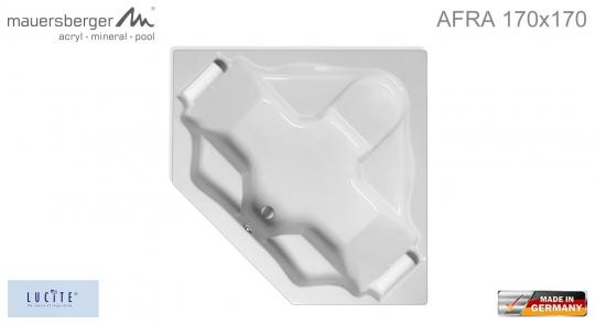 Mauersberger Badewanne AFRA 170 x 170 cm - ACRYL - Großraum