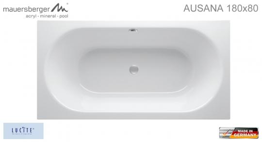 Mauersberger Badewanne AUSANA 180 x 80 cm - Rechteck - ACRYL