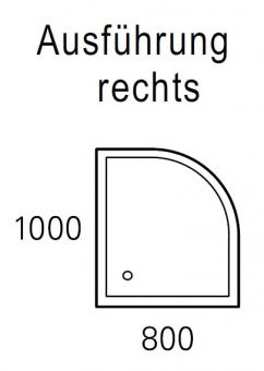 mauersberger duschwanne albis 100 x 80 cm superflach. Black Bedroom Furniture Sets. Home Design Ideas