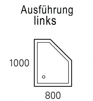 mauersberger duschwanne circi 100 x 80 cm superflach links impulsbad. Black Bedroom Furniture Sets. Home Design Ideas