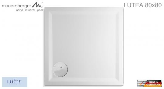 mauersberger duschwanne lutea 80 x 80 cm superflach impulsbad. Black Bedroom Furniture Sets. Home Design Ideas