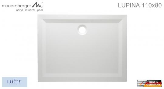 mauersberger duschwanne lupina 110 x 80 cm superflach. Black Bedroom Furniture Sets. Home Design Ideas