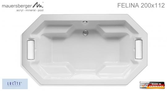 Mauersberger Badewanne FELINA 200 x 112 cm - Achteck - ACRYL - 8-Eck