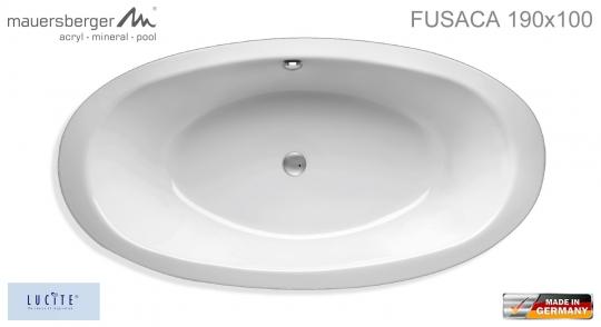 Mauersberger Badewanne FUSACA 190 x 100 cm - ACRYL - oval