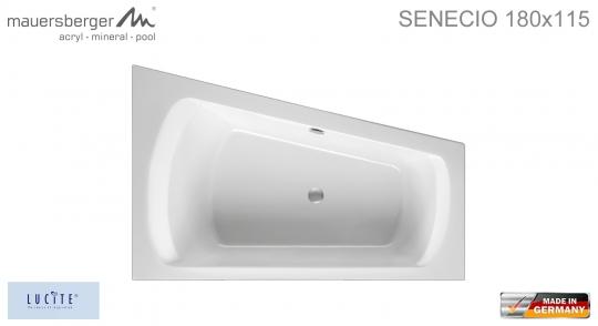 Mauersberger Badewanne SENECIO 180 x 115 cm - ACRYL - ECK - Links L