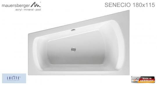 Mauersberger Badewanne SENECIO 180 x 115 cm - ACRYL - ECK - Rechts R