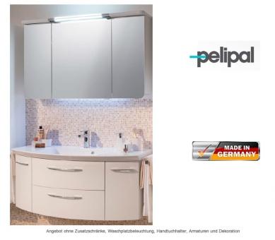 pelipal badm bel als set cassca mit spiegelschrank und led beleuchtung 121 cm impulsbad. Black Bedroom Furniture Sets. Home Design Ideas