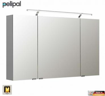 pelipal neutraler spiegelschrank s5 120 cm mit led aufbauleuchte impulsbad. Black Bedroom Furniture Sets. Home Design Ideas