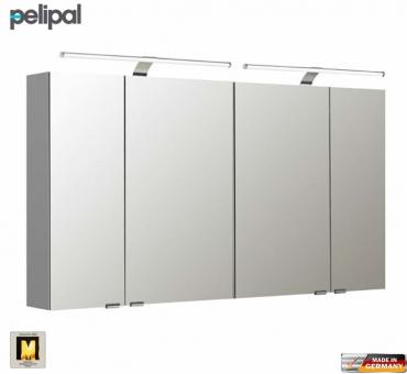 Pelipal neutraler spiegelschrank s5 130 cm mit 2 led for Spiegelschrank 130 cm