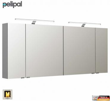 pelipal neutraler spiegelschrank s5 170 cm mit 2 led aufbauleuchten impulsbad. Black Bedroom Furniture Sets. Home Design Ideas