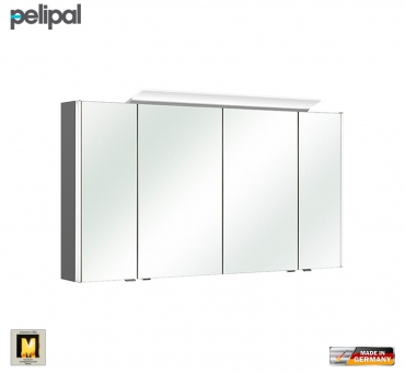 pelipal neutraler spiegelschrank s10 ledplus 132 cm mit led aufbauleuchte impulsbad. Black Bedroom Furniture Sets. Home Design Ideas