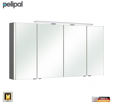 pelipal neutraler spiegelschrank s10 ledplus 142 cm mit led aufbauleuchte impulsbad. Black Bedroom Furniture Sets. Home Design Ideas