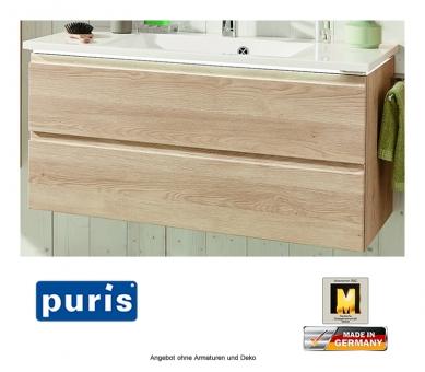 Puris Ace Waschtisch Set optional mit LED Beleuchtung 122 cm
