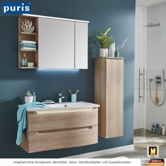 Puris Purefaction Badmöbel als Set 90 cm links Version