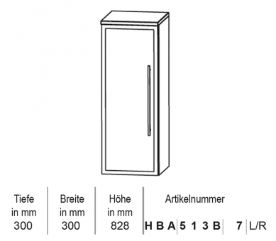 Puris Classic Line Highboard 30 cm