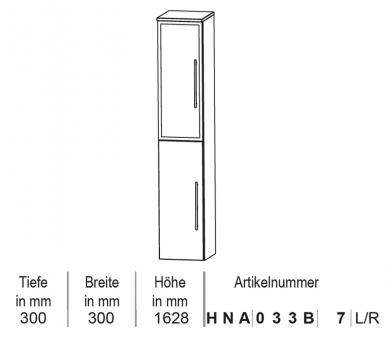 Puris Classic Line Hochschrank 30 cm