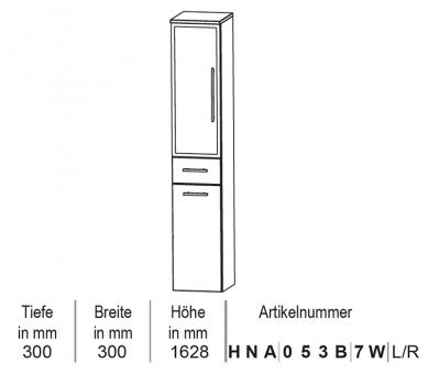 Puris Classic Line Hochschrank mit Wäschekippe 30 cm
