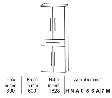 Puris Star Line Hochschrank 60 cm
