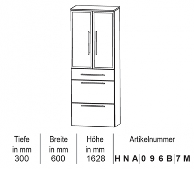 Puris Classic Line Hochschrank 60 cm