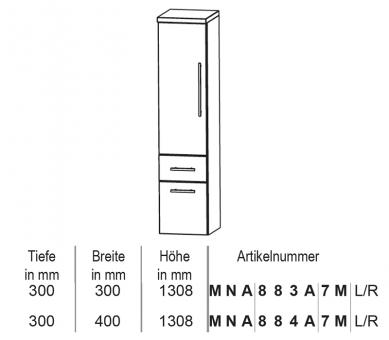 Puris Classic Line Mittelschrank 30 cm